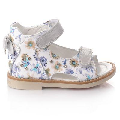 Босоножки для девочек 660 | Белая детская обувь 24 размер 14 см