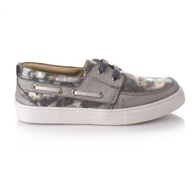 Кроссовки для девочек 664 | Серая осенняя детская обувь