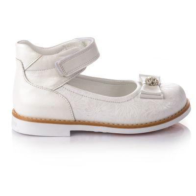 Туфли для девочек 665 | Белая обувь для девочек, для мальчиков 7 лет