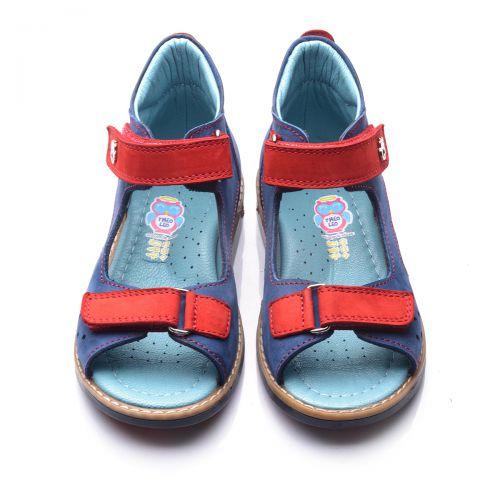 Босоножки для мальчиков 667 | Детская обувь из нубука оптом и дропшиппинг