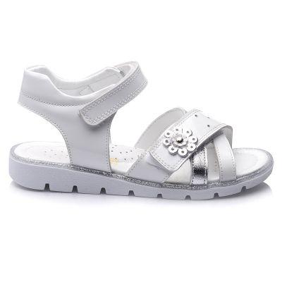 Сандали для девочек 669 | Белая обувь для девочек, для мальчиков 12 лет