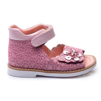 Босоножки для девочек 678 | Бежевые, розовые приглушенные, розовые модные туфли, босоножки для девочек 5, 6 лет 27 размер