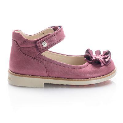 Туфли для девочек 693 | Бежевые, розовые приглушенные, розовые модные туфли, босоножки для девочек 5, 6 лет 27 размер