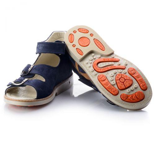 Босоножки для мальчиков 694 | Детская обувь из нубука оптом и дропшиппинг