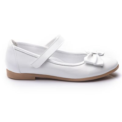 Туфли для девочек 696 | Белая обувь для девочек, для мальчиков 7 лет