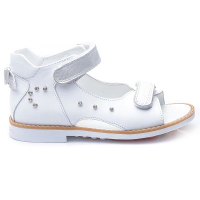 Босоножки для девочек 697 | Белая детская обувь 21 размер 18 см