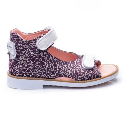 Босоножки для девочек 701 | Бордовая детская обувь 9 лет 18,6 см