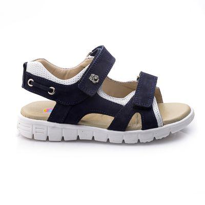 Босоножки для мальчиков 725 | Белая детская обувь 21 см из нубука