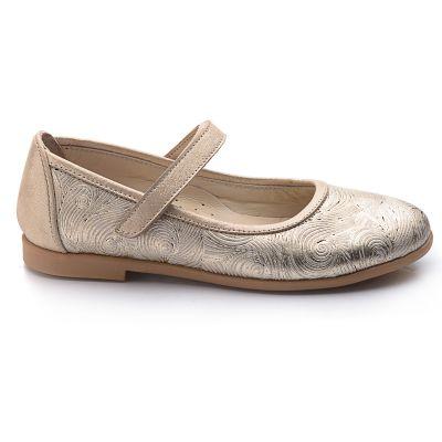 Туфли для девочек 727 | Белая, красная, голубая, малиновая, фиолетовая, бежевая, бирюзовая, горчичная, розовая приглушенная, серая, песочная, золотая обувь для девочек