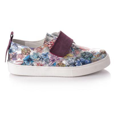 Слипоны для девочек 731 | Белая детская обувь 8 лет 38 размер