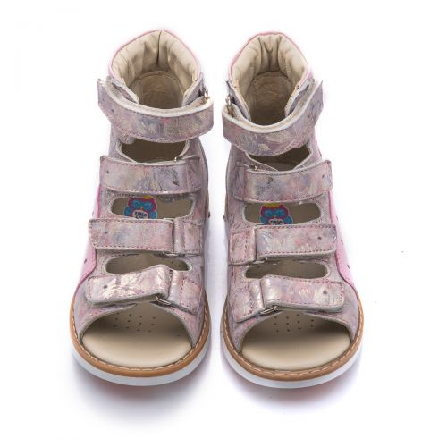 Ортопедические босоножки для девочек 738 | Детская обувь 21,6 см оптом и дропшиппинг