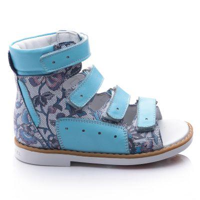 Ортопедические босоножки для девочек 752 | Белая, красная, голубая, малиновая, фиолетовая, бежевая, бирюзовая, горчичная, розовая приглушенная, серая, песочная, золотая обувь для девочек