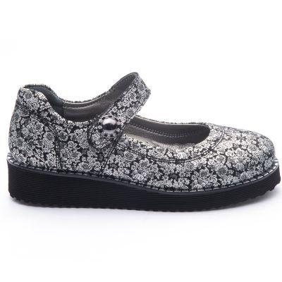 Туфли для девочек 754 | Серая осенняя детская обувь