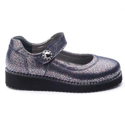 Туфли для девочек 755 | Серая осенняя детская обувь