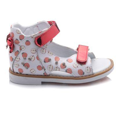 Босоножки для девочек 756 | Белая детская обувь 24 размер 14 см