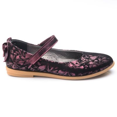 Туфли для девочек 762 | Белая, красная, голубая, малиновая, фиолетовая, бежевая, бирюзовая, горчичная, розовая приглушенная, серая, песочная, золотая обувь для девочек