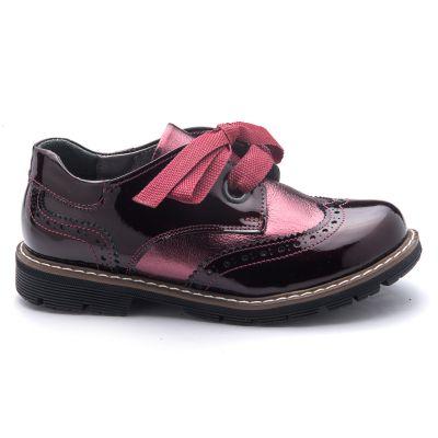 Туфли для девочек 781 | Бордовая обувь для девочек, для мальчиков 6 лет