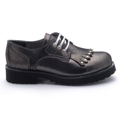 Туфли для девочек 783 | Серая осенняя детская обувь