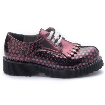 Туфли для девочек 785 | Бордовая обувь для девочек, для мальчиков 6 лет