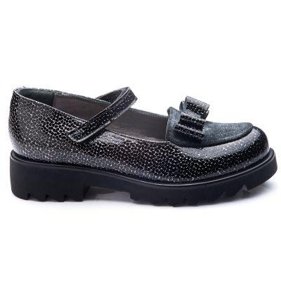 Туфли для девочек 792 | Серая осенняя детская обувь