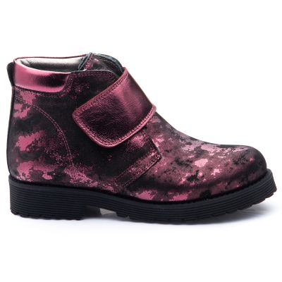 Ботинки для девочек 832 | Бордовая школьная детская обувь 25 см