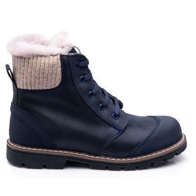 Зимние ботинки для мальчиков 854 | Бежевая обувь для девочек, для мальчиков 9 лет
