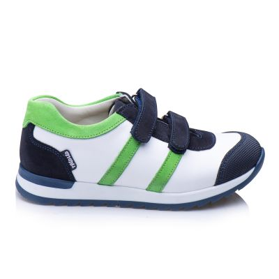 Кроссовки для мальчиков 865 | Белая детская обувь 21 см из нубука