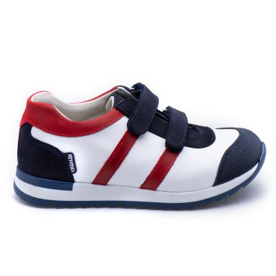 Кроссовки для мальчиков 866 | Белая детская обувь 21 см из нубука