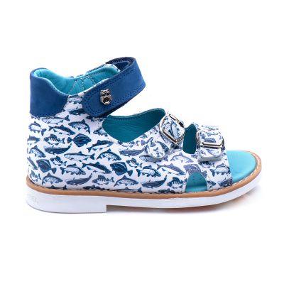 Босоножки для мальчиков 869 | Белая детская обувь 21 размер 18 см
