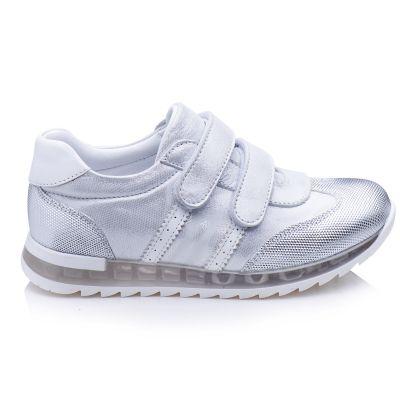Кроссовки для девочек 871 | Белая школьная детская обувь