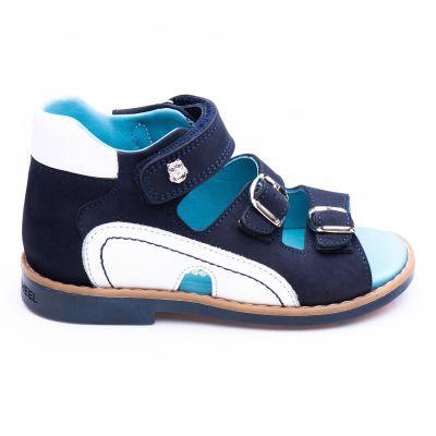 Босоножки для мальчиков 875 | Белая детская обувь 21 см из нубука