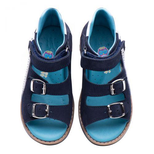 Босоножки для мальчиков 875 | Детская обувь из нубука оптом и дропшиппинг