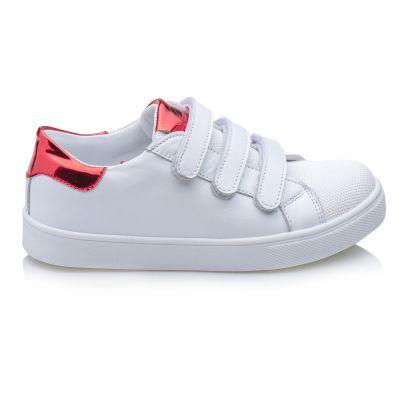 Кроссовки для девочек 877 | Белая школьная детская обувь