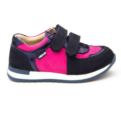 Кроссовки для девочек 886 | Детская обувь из нубука