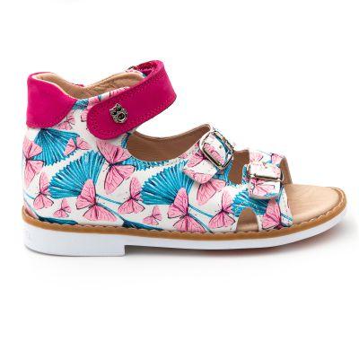Босоножки для девочки 888 | Белая детская обувь 24 размер 14 см