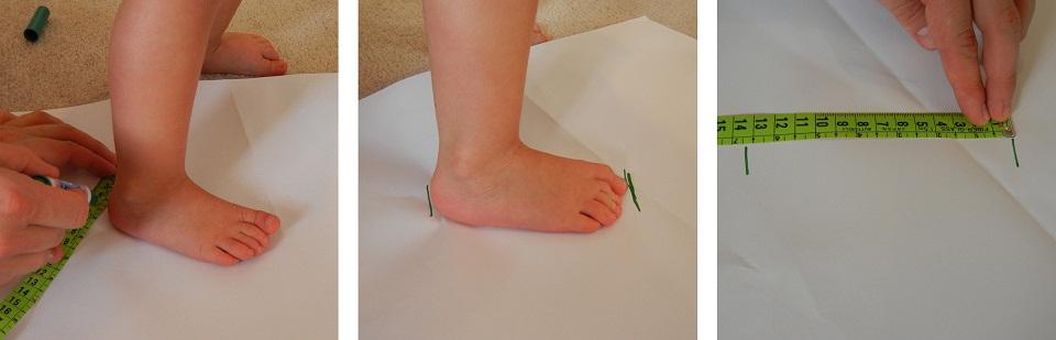 Как измерить размер детской ноги